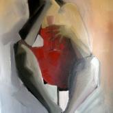 Jag kräks på Sara – Olja på duk, 155 x 85 cm 2008
