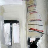 Jag e' ensammast i världen – Olja på duk, ca 80 x 40 cm. 2009