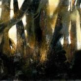 Skog – Olja på duk ca 140x100cm