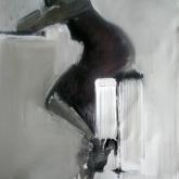 Barhäng – Olja på duk, ca 80 x 40 cm. 2009